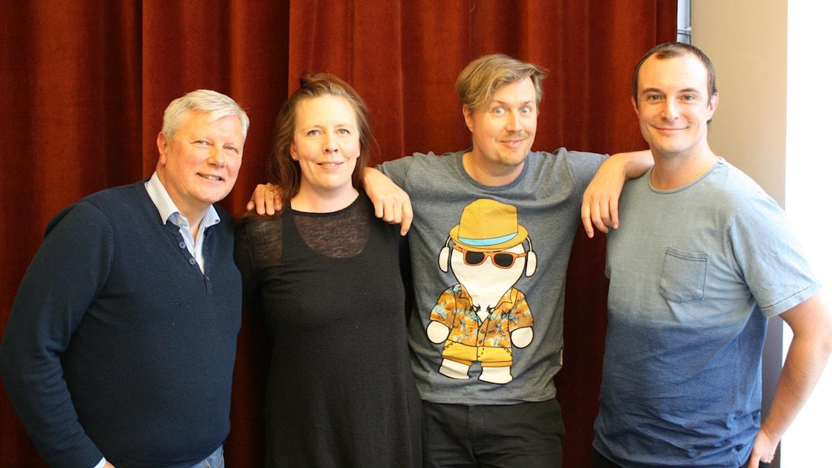Lars Ohly, Martina Montelius, Jörgen Lötgård och Johan Hilton