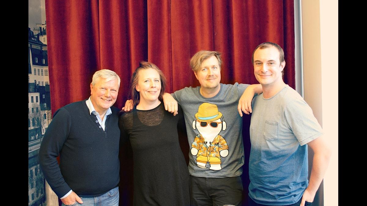 Lars Ohly, Martina Monteilus, Jörgen Lötgård och Johan Hilton