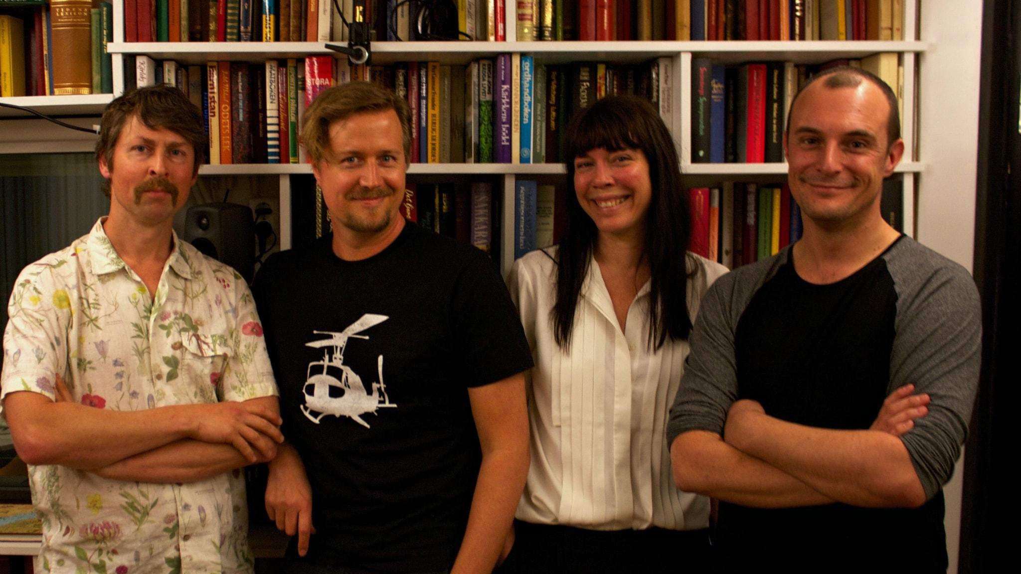 Natanael Derwinger, Jörgen Lötgård, Åsa Avdic och Johan Hilton