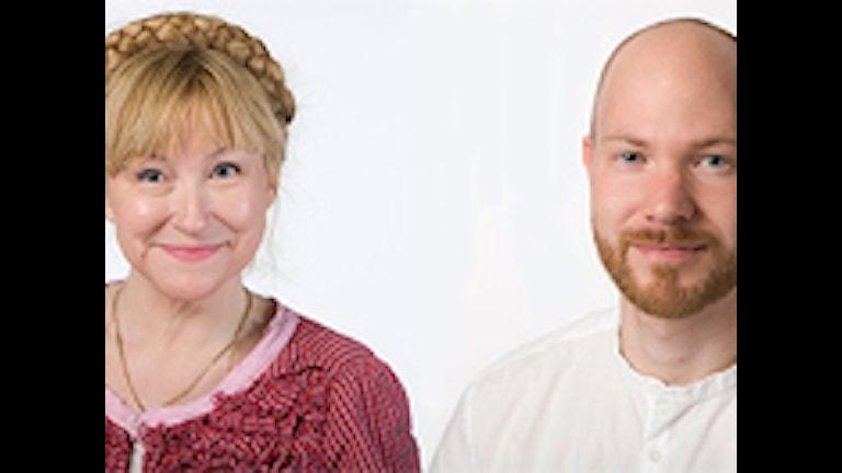 Studio Ett reporter Katarina Gunnarsson och Ekots reporter Marcus Eriksso