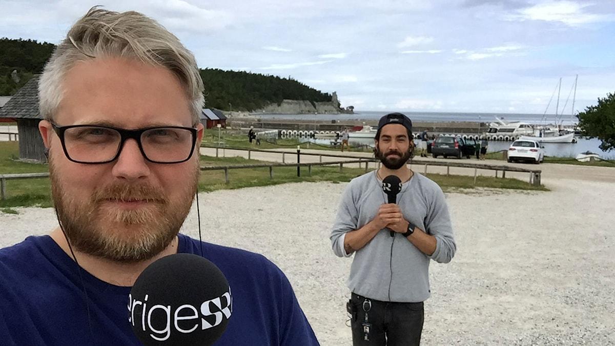 Anton Kalm och Demir Güler Lilja sänder från Lickershamn, Gotland.