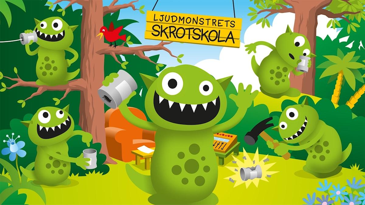 Ljudmonstrets skrotskola. Bild: Patrik Lindvall
