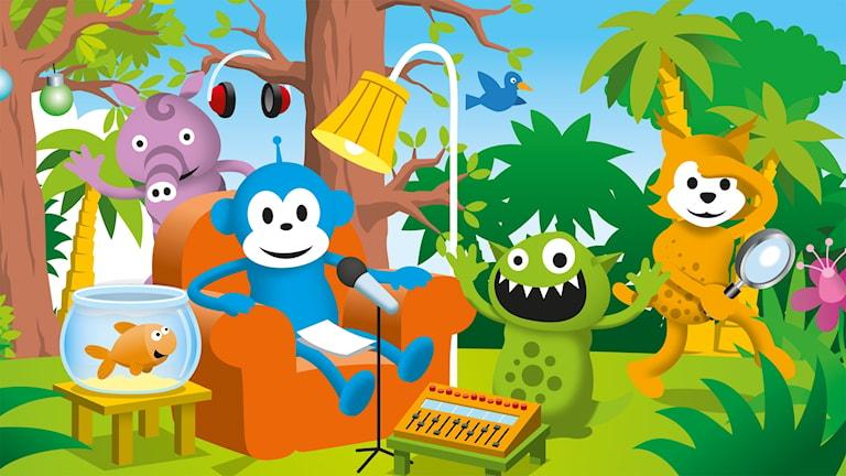 Programbild för Radioapan i Sagoskogen