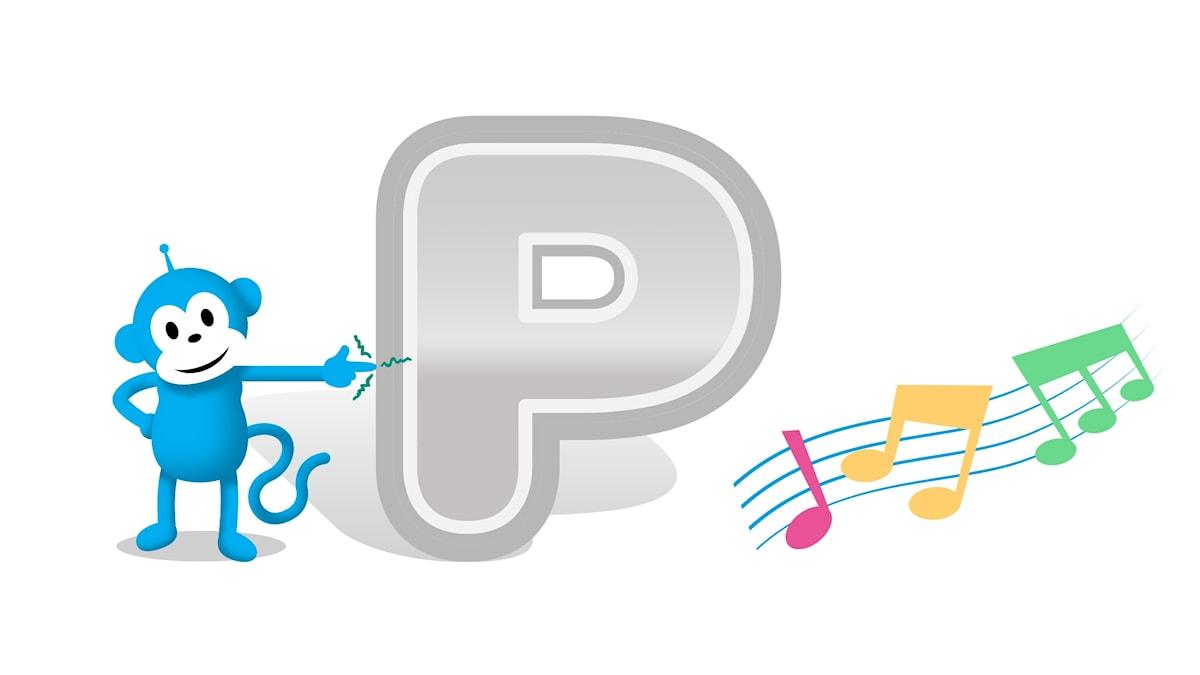 bokstaven p