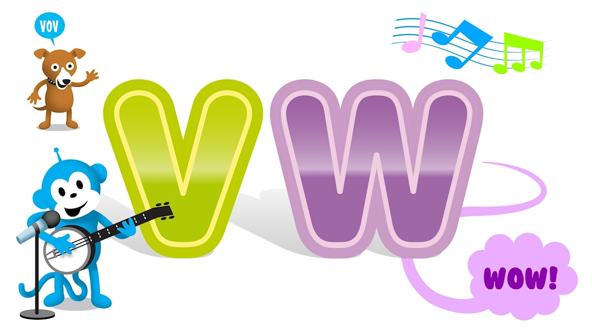 bokstäverna v och w