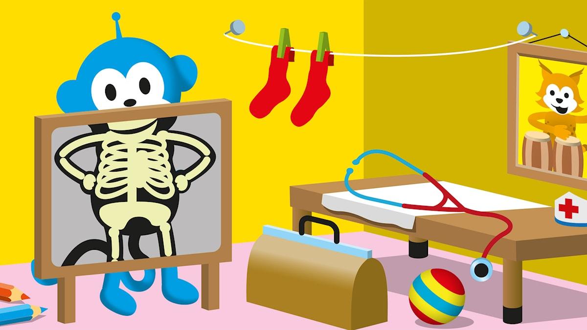 Skelettet (Illustration: Patrik Lindvall)