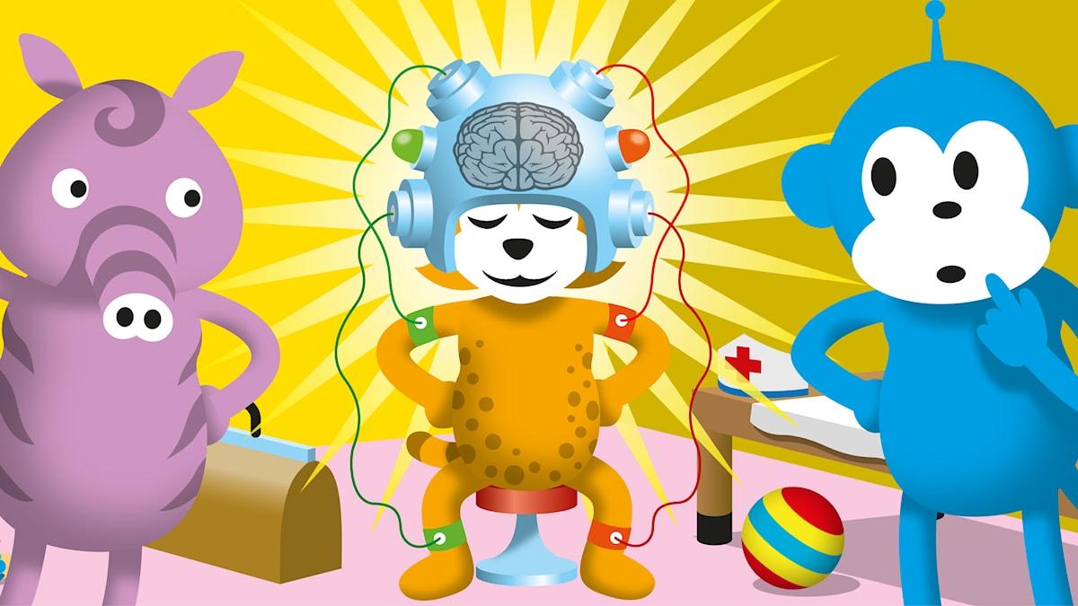 Hjärnan är stjärnan (Illustration: Patrik Lindvall)