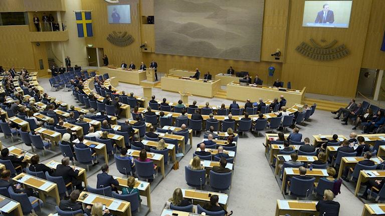 Riksdagens plenisal. Foto: Janerik Henriksson/TT.