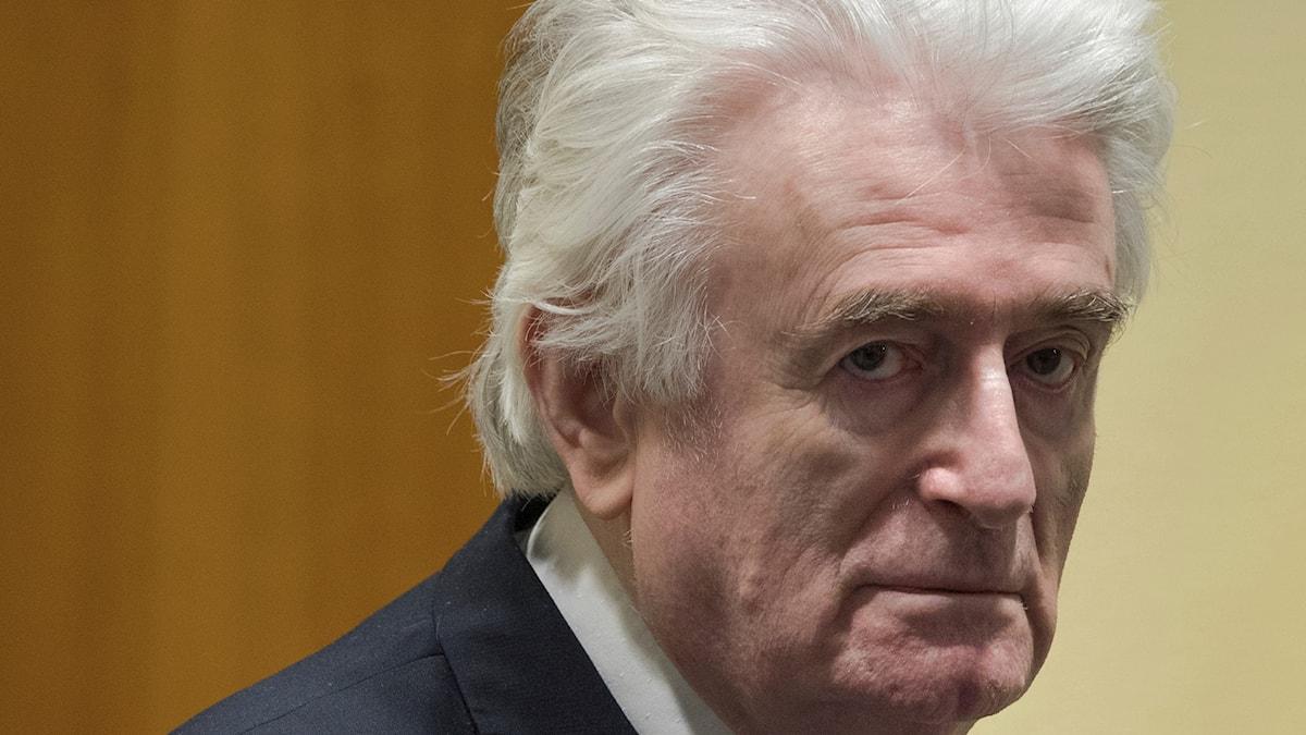 Karadzic hålls som ansvarig för folkmordet i Srebrenica,  där ca 8000 muslimska pojkar och män avrättades.