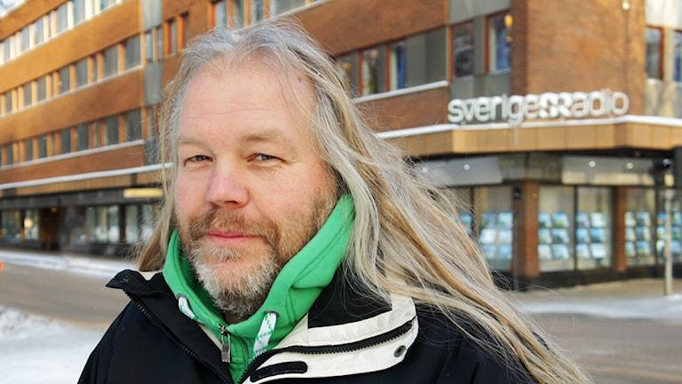 Mattz Larsson, teknisk producent. Foto: Linn Fogelberg/Sveriges Radio