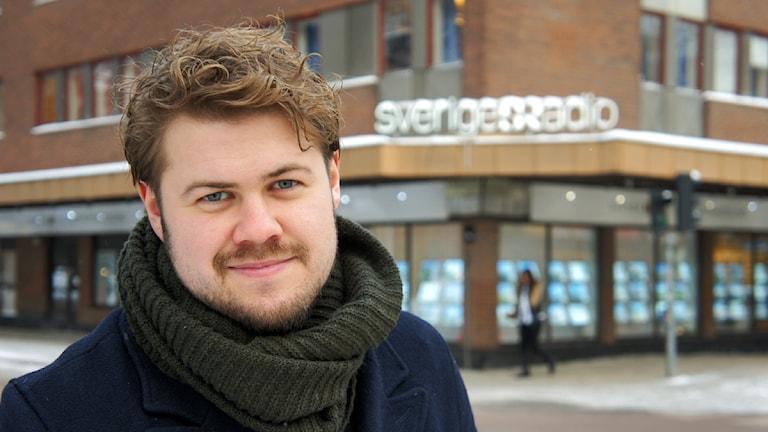 Martin Svensson, programledare för P4 Morgon. Foto: Linn Fogelberg/Sveriges Radio