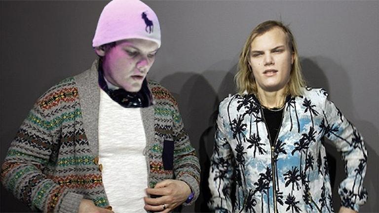 Pelle Moeld och Linda Nordeman i Avicii-mode