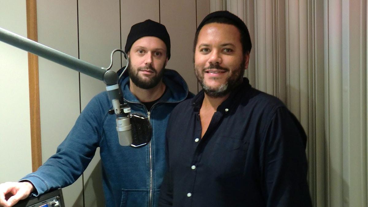 Tobias Jimson och Michel Flygare från NONONO är gästredaktörer i Musikguiden. Foto: Karin Eller/Massa Media