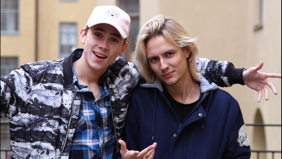 Felix Sandman och Oscar Enestad i The Fooo Conspiracy.