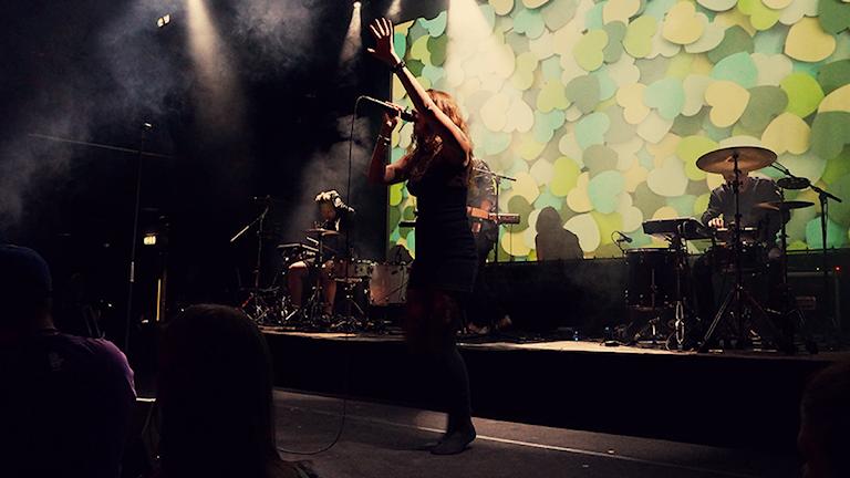 Tove Lo live på P3 Älskar (foto: Kalle Kovács/Sveriges Radio)