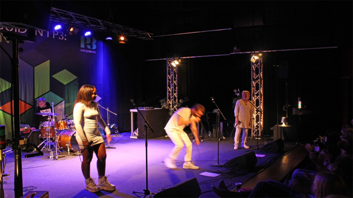 Dante live i Session (Foto: Simon Lundberg/Sveriges Radio)