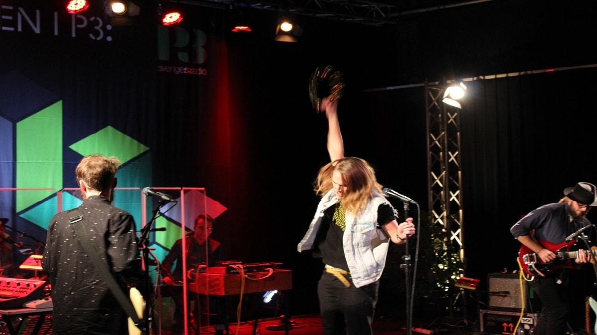 Thomas Stenström live i Session. Foto: Simon Lundberg/Sveriges Radio
