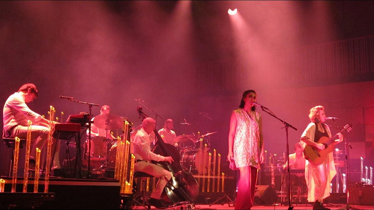 Ane Brun med band Johanna Olofsson