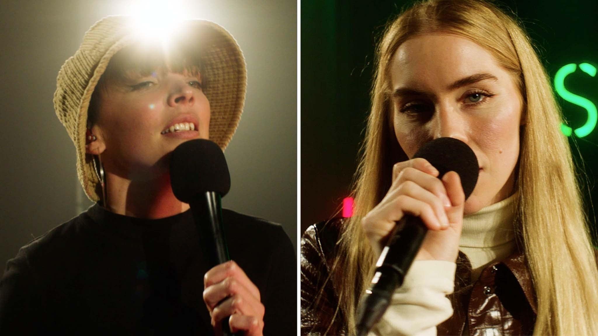 Nea & SHY Martin sjunger på P3 Sessions gröna scen