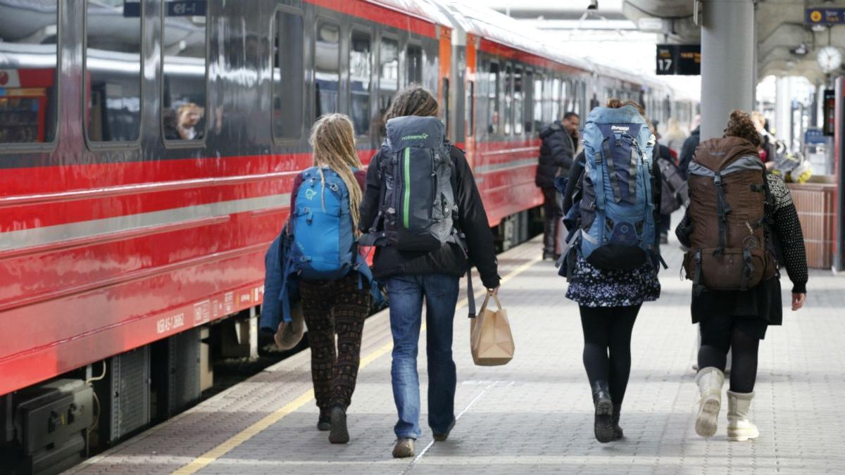 Tågresa. Foto: Terje Bendiksby/TT