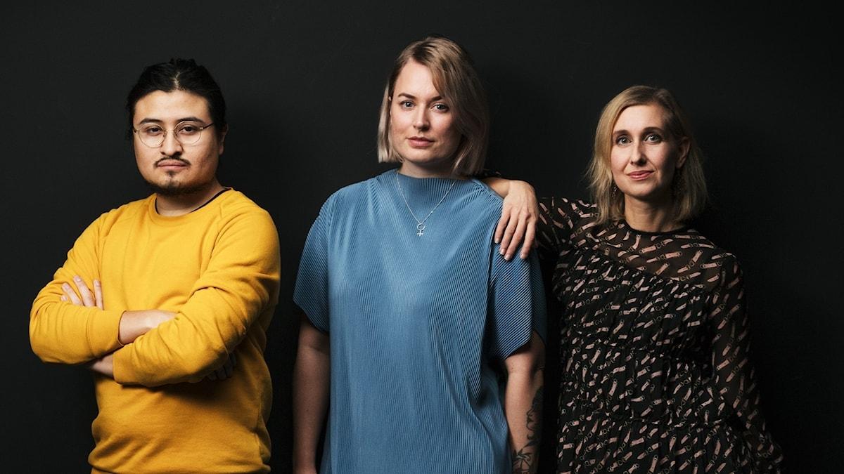 P3s musikredaktörer - Esau Alcona, Mari Hesthammer, Linda Nordeman