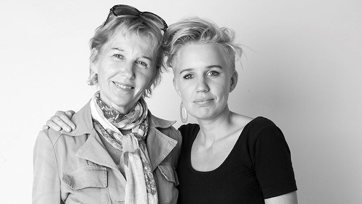 Kristin Montagu-Evans och henne mor Marie