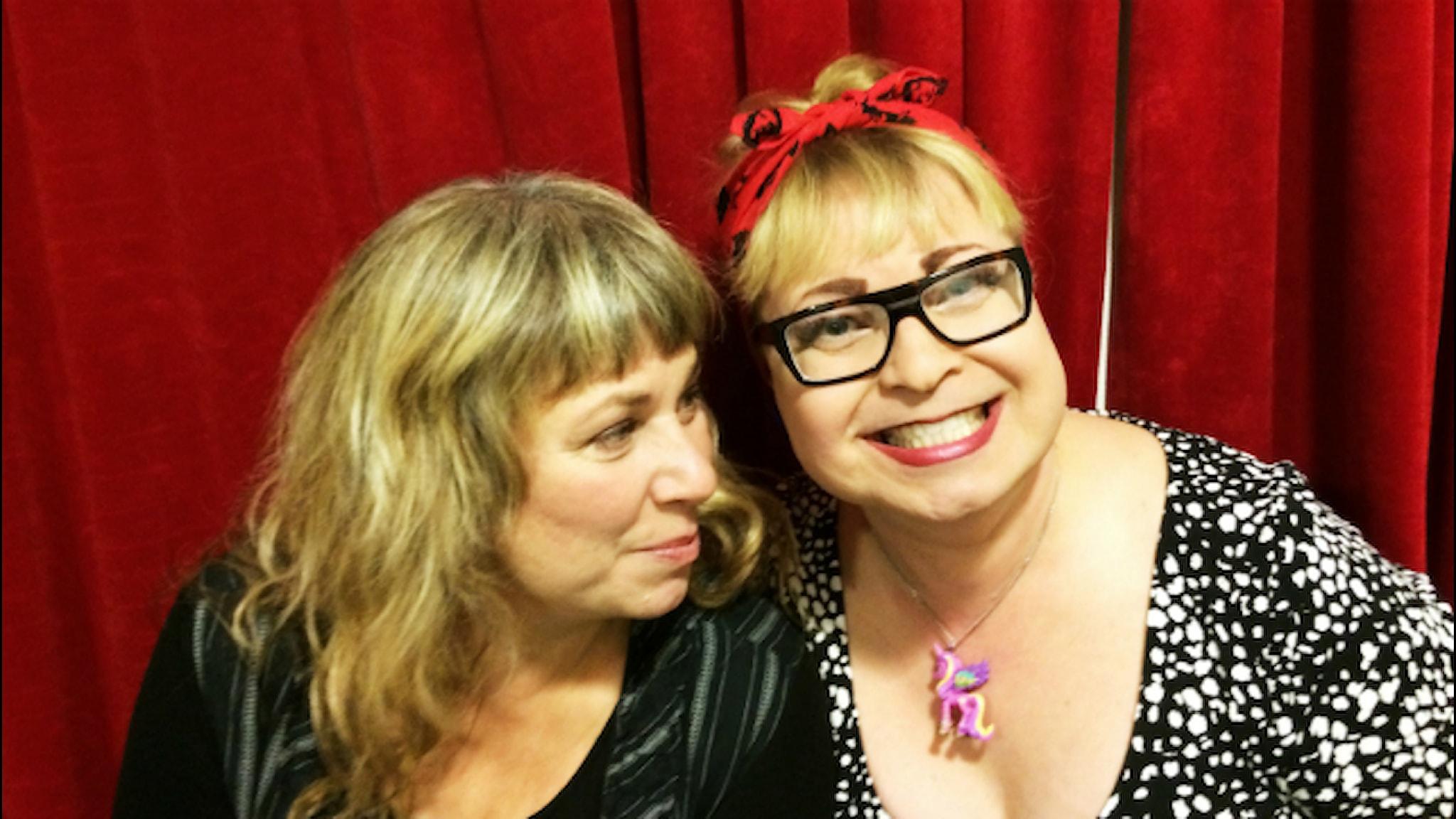 Stina och Johanna. Foto: Sandra Gunnarsson / SR.