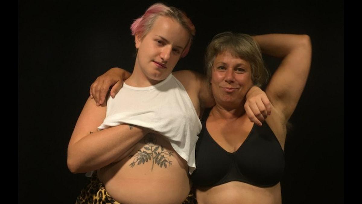 Stina och Ebba. Foto: Sandra Gunnarsson / SR.