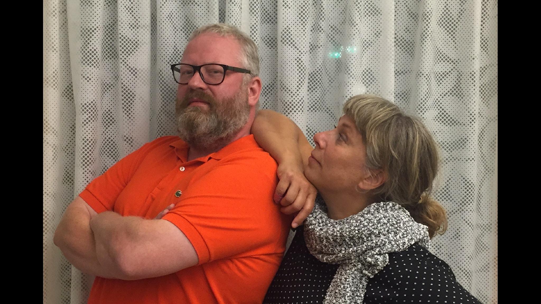 Ulric Jansson och Stina Wollter. Foto: Martin Löf Nyqvist / SR.