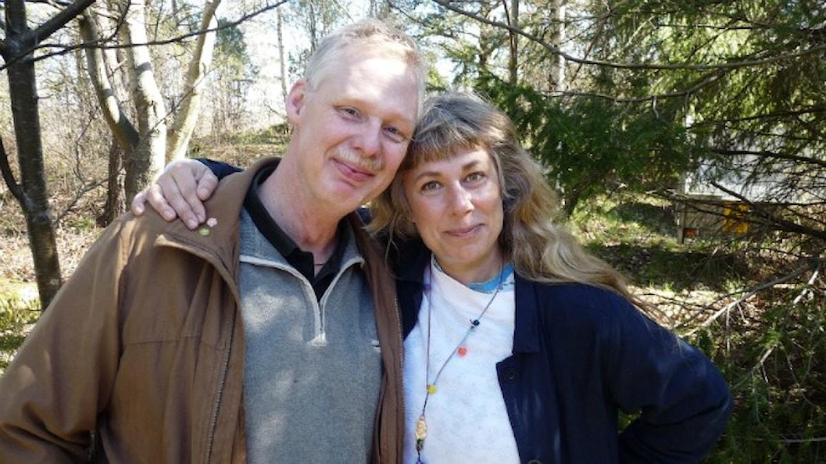 Thomas och Stina. Foto: Johanna Fellenius / SR.