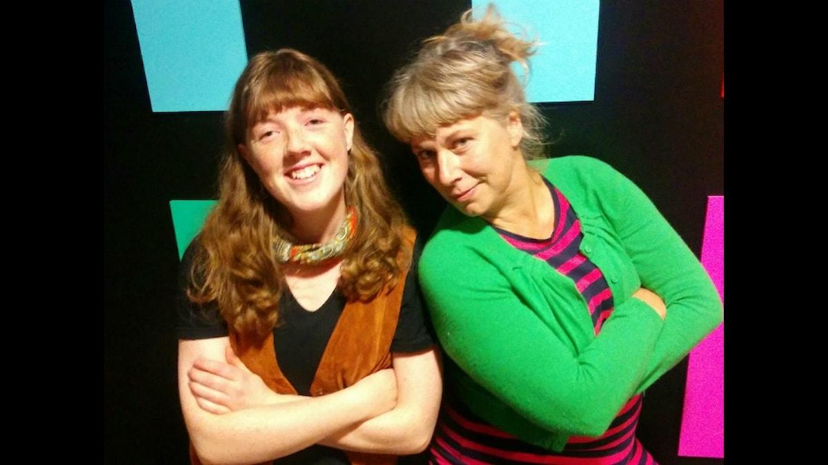 Julia och Stina. Foto: Ida Forsgren/ SR.