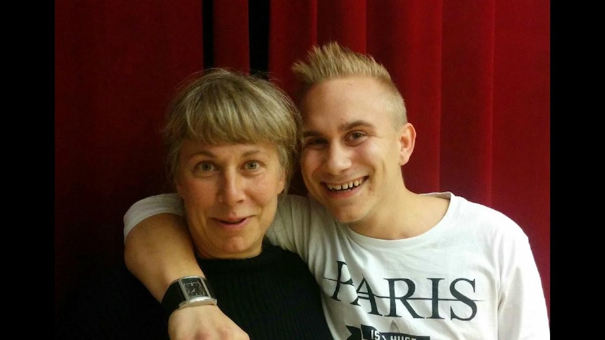 Stina och Frederik. Foto: Ida Forsgren / SR.