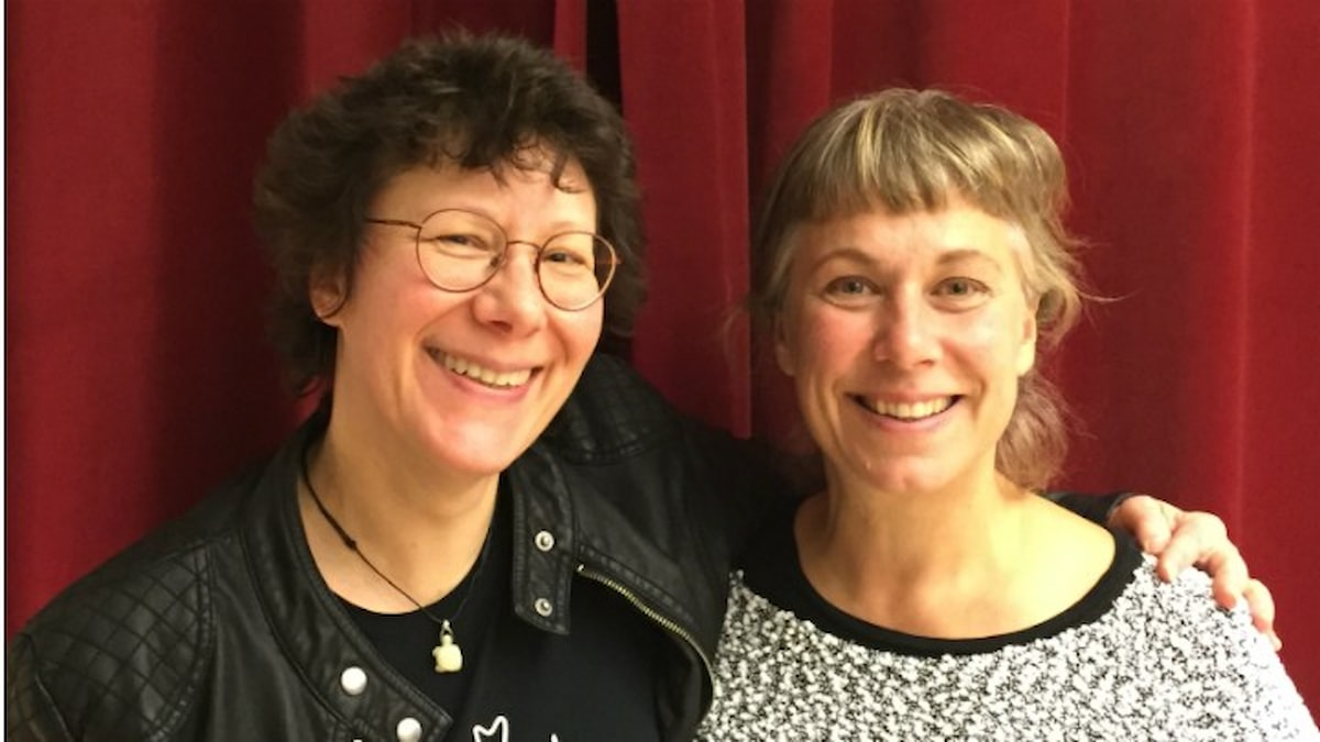 Eva-Marie Janelo och Stina. Foto: Martin Löf Nyqvist / SR.