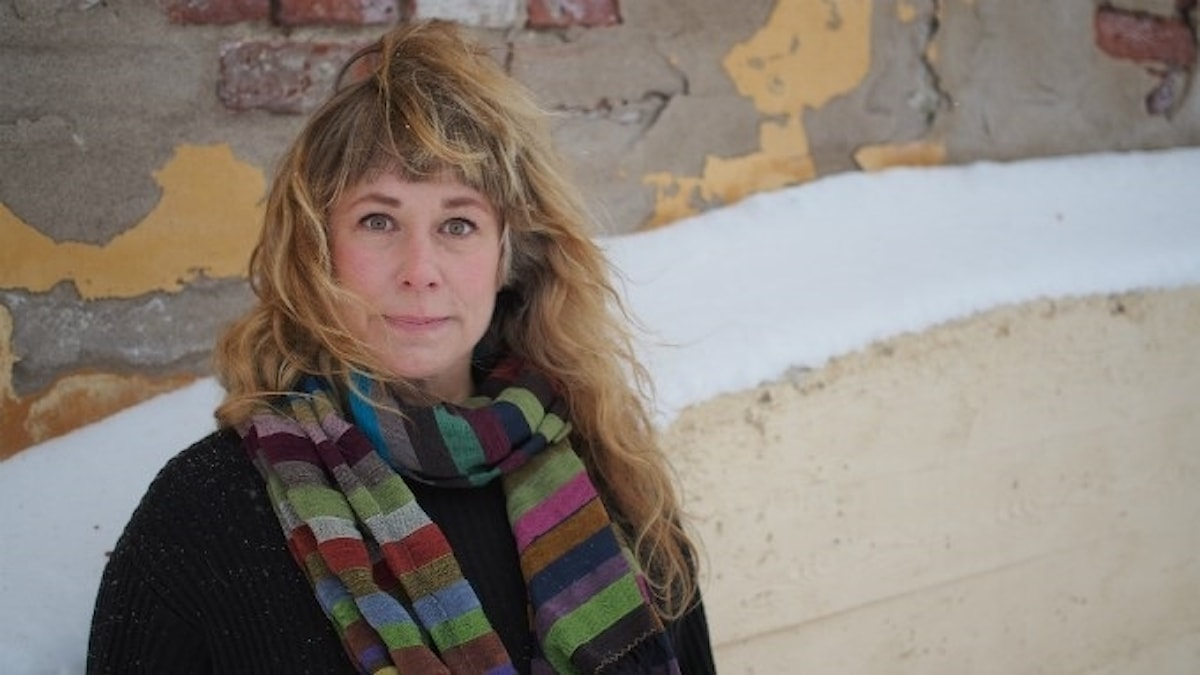 Stina Wollter. Foto: Johanna Fellenius / SR.