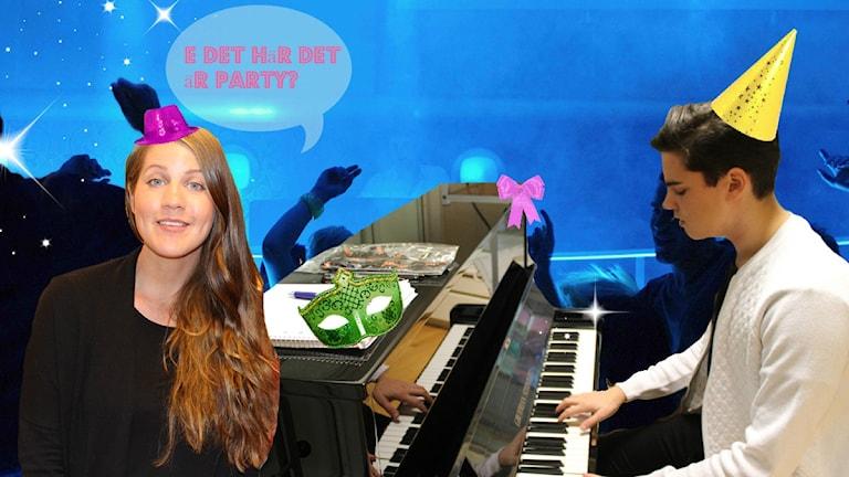 PAAEERTEEEY! Med Emma och Oscar!!! Foto: Anna Emanuelsson/Sveriges Radio