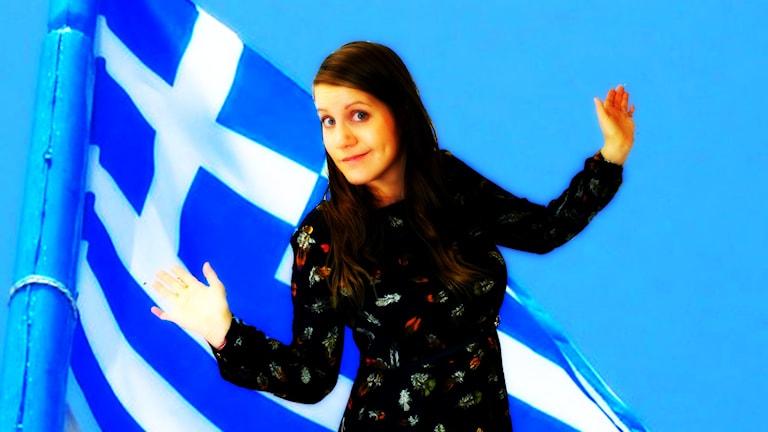 Viva grekland! Eller hur man säger :) Foto: Wikimedia commons/NickWinslow och Anna Emanuelsson/Sveriges Radio