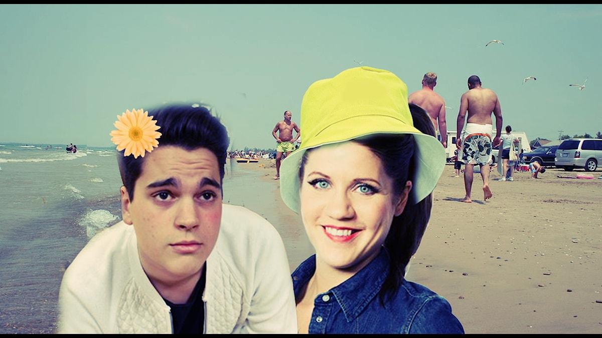 Oscar och Emma på semester!!! Foto: Sveriges Radio och Wikimedia commons/ Pyzote
