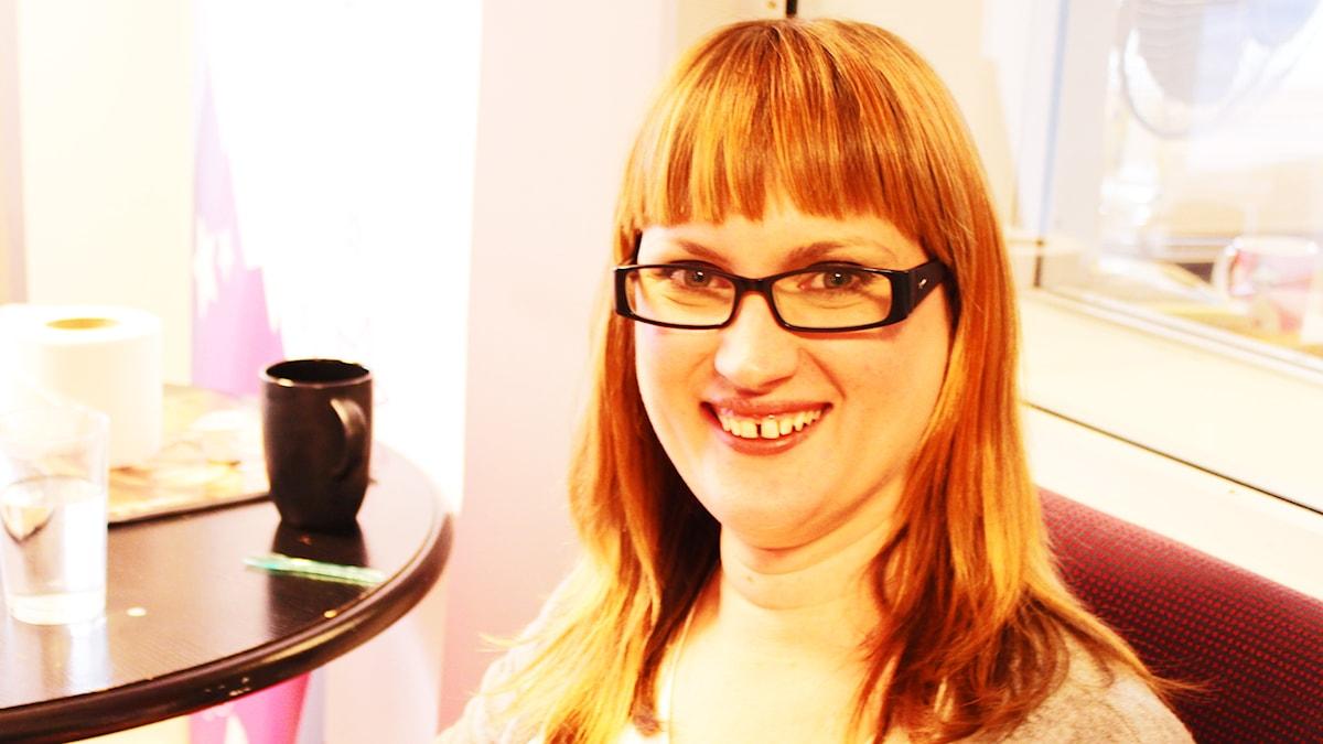 Johanna Pramberg, äkta medium, spåkvinna och siare. Foto: Anna Emanuelsson/Sveriges Radio