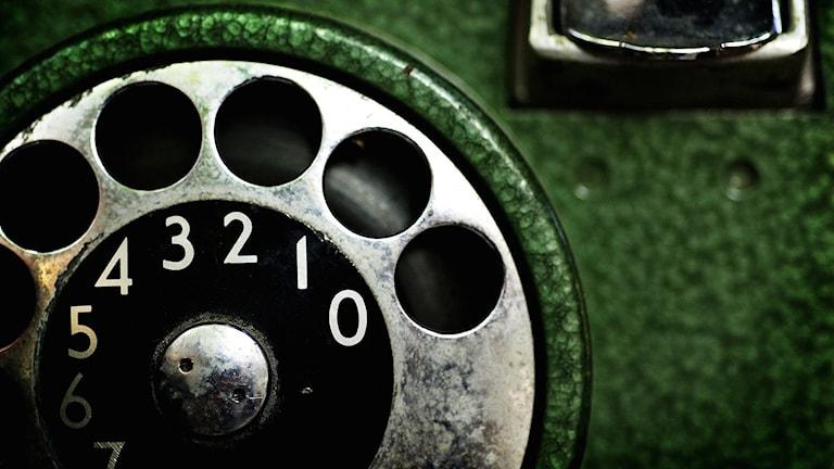 Vad är detta? jo en gammal telefon. Helt utan skärm och knappar. foto: Barbro Vivien/SvD