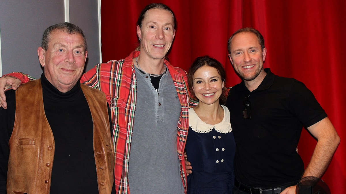 Sverre Sjölander, Martin Eriksson, Annika Jankell och Mattias Klum.