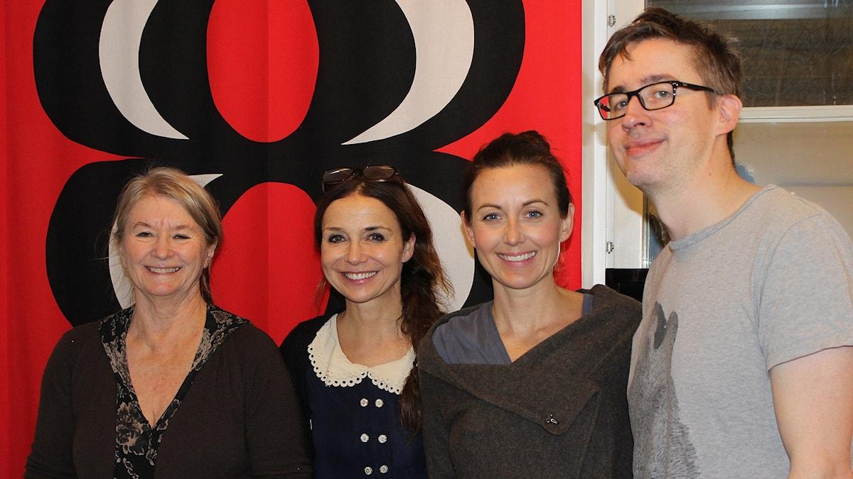 Lena Teurnell, Annika Jankell, Sanna Lundell och Fredrik Strage.