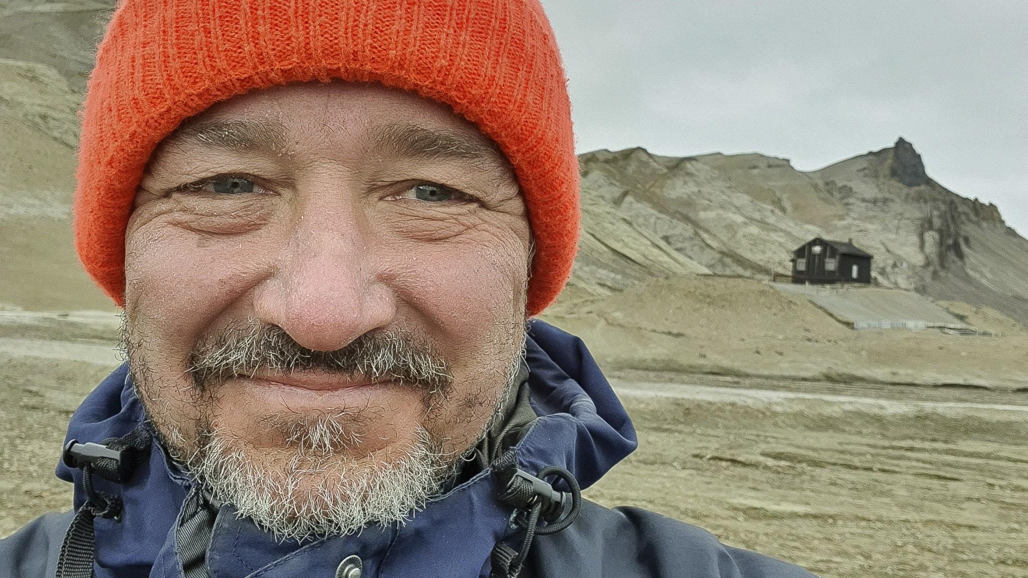 Dag Avango på Antarktiska halvön
