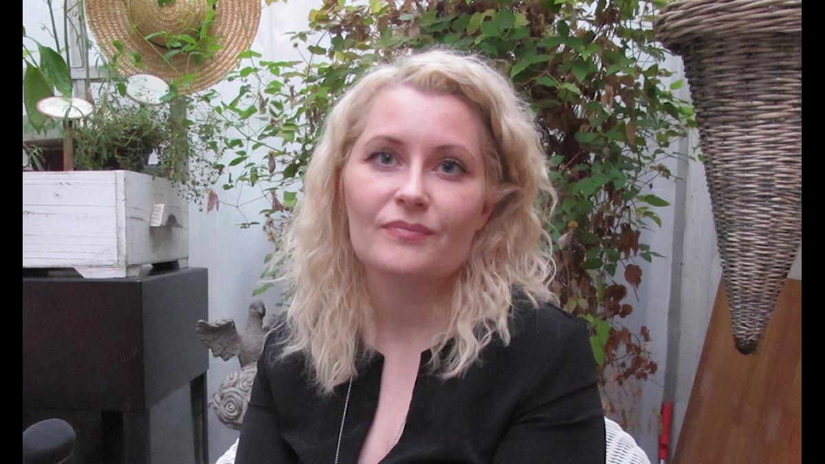 Anna Höglund, monster- och populärfiktionsforskare. Foto: Per Helgesson/Sveriges Radio