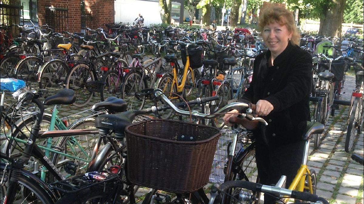 Charlotte Hagström, forskar i etnologi - just nu om cyklar.