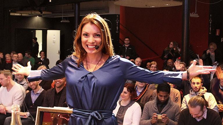 Alexandra Pascalidou. Foto Arash Mokhtari/Sveriges Radio.