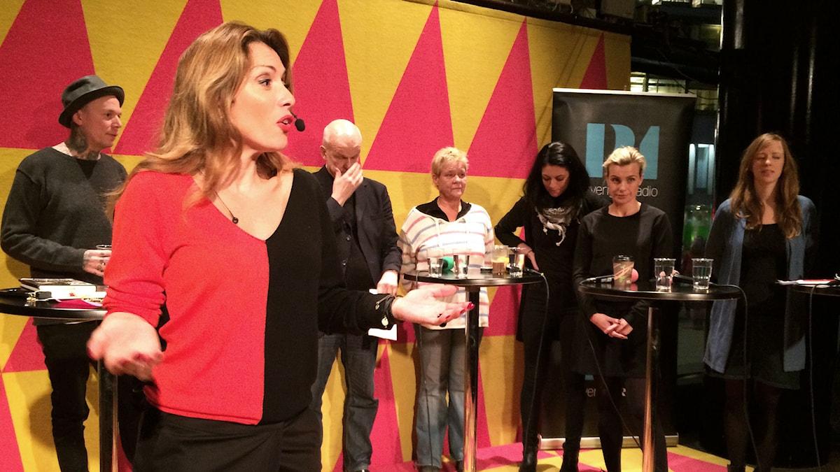 Alexandra Paskalidou leder P1 Debatt. Foto: Mikael Cohen/Sveriges Radio