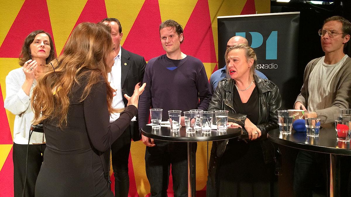 Alexandra Pascalidou leder P1 Debatt. Foto: Mikael Cohen/Sveriges Radio.
