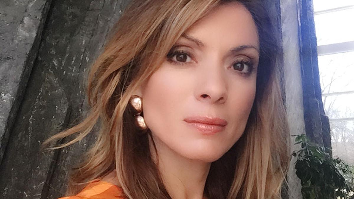 Alexandra Pascalidou, programledare för P1 Debatt.
