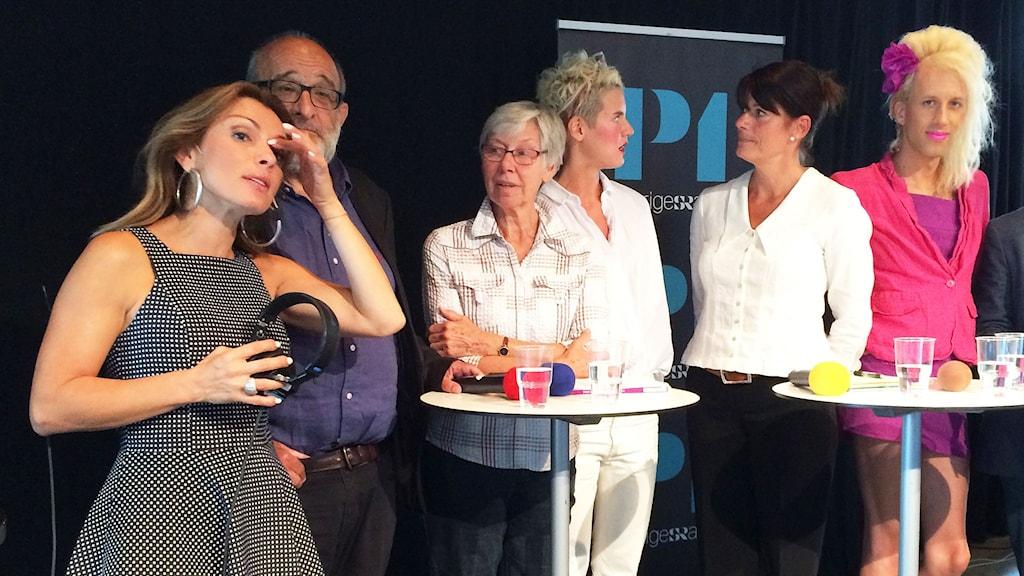 Alexandra Pascalidou leder P1 Debatt. Foto: Sveriges Radio.