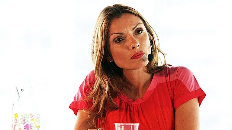 Alexandra Pascalidou är programledare för P1 Debatt. Foto: Sveriges Radio.